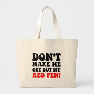 Funny teacher canvas bag