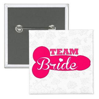 funny team bride,bachelorette party,hen party 15 cm square badge