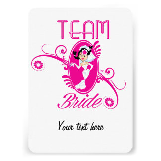 Funny Team Bride Personalized Announcements