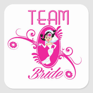 Funny Team Bride Square Sticker