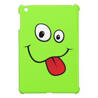 Funny teasing green cartoon smiley face funny iPad mini case