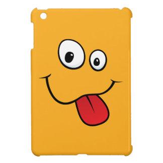 Funny teasing orange cartoon smiley face funny case for the iPad mini
