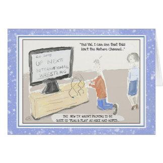 "Funny Technology Birthday Card: ""Plug & Play"" Card"