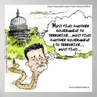 Funny Ted Cruz Snake Poster