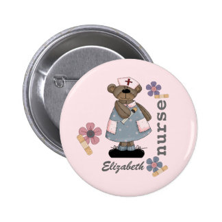Funny Teddy Bear Design Custom Nurse Buttons