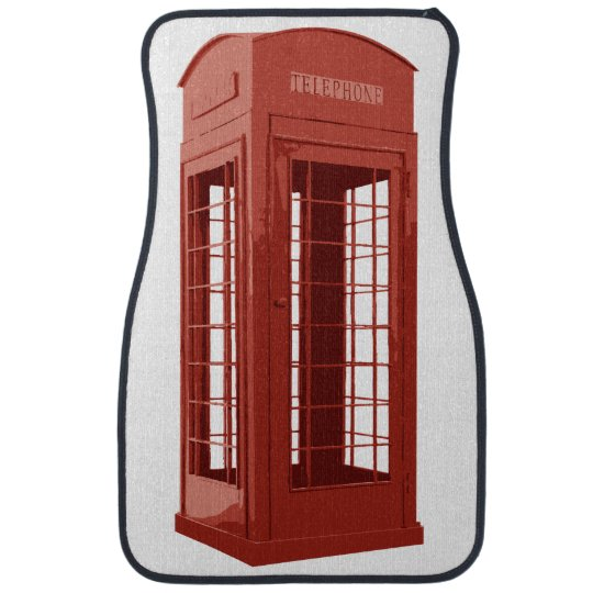 Funny Telephone Booth Car Mat