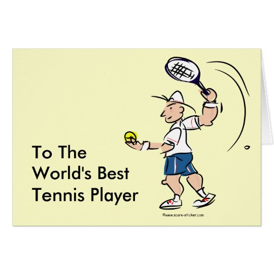 Funny tennis cards for men and boys