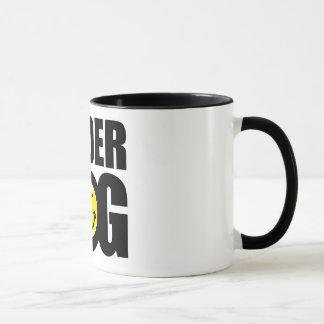Funny tennis gift with humorous slogan saying mug