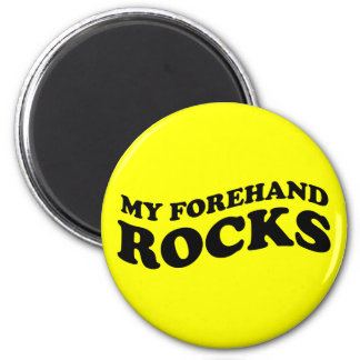 Funny Tennis My Forehand Rocks 6 Cm Round Magnet