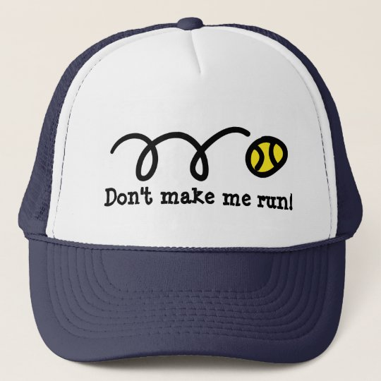 Funny tennis player hat with bouncing ball design