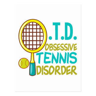 Funny Tennis Postcard