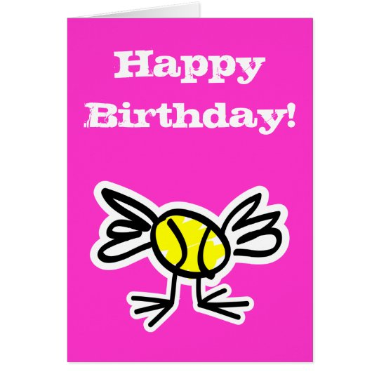Funny Tennis Theme Birthday Card