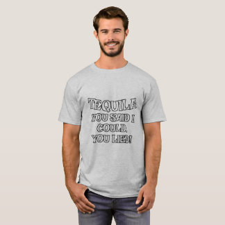 Funny Tequila Alcohol Drinking T-Shirt