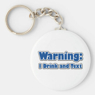 Funny Texting Basic Round Button Key Ring