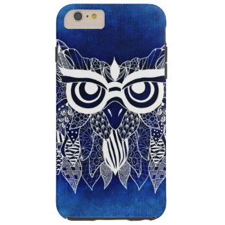 funny texture owl tough iPhone 6 plus case