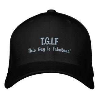 "Funny TGIF ""This guy is fabulous"" mens Baseball Cap"