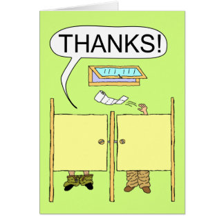 Funny Thank You Card: Toilet Paper Card