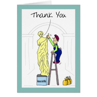 Funny Thank You Card:  Venus Demilo Card