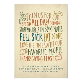 Funny Thanksgiving Dinner Invitation