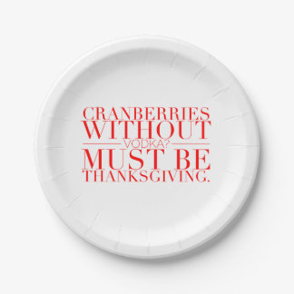 Funny Thanksgiving Paper Plates
