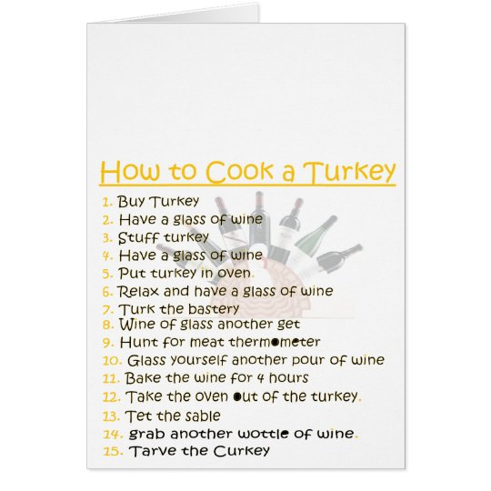 funny Thanksgiving personalise Card