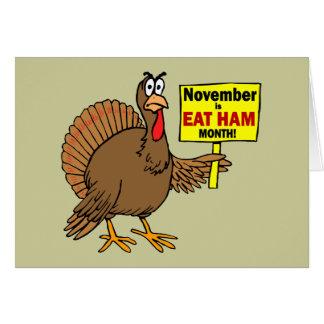 Funny Thanksgiving turkey Card