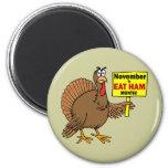 Funny Thanksgiving turkey Fridge Magnets