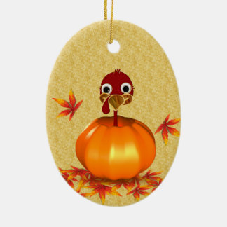 Funny Thanksgiving Turkey in Pumpkin - Ornament