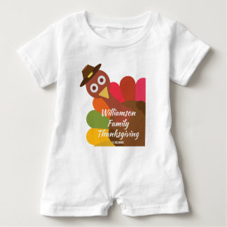 Funny Thanksgiving Turkey Matching Family Custom Baby Bodysuit