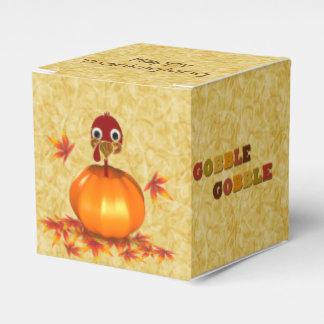 Funny Thanksgiving Turkey Pumpkin - Favor Box