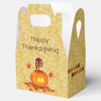 Funny Thanksgiving Turkey Pumpkin Favor Box Gable