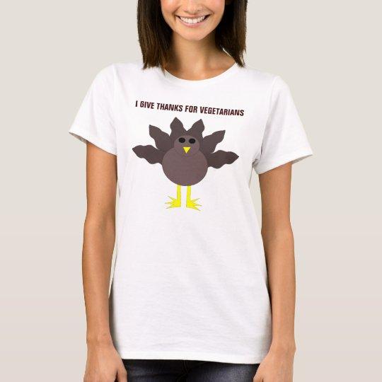 Funny Thanksgiving Turkey Vegetarians Custom T Shi T-Shirt