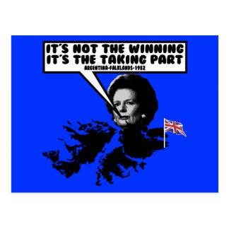 Funny Thatcher Falklands Postcard