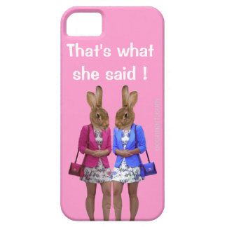 Funny that's what she said text barely there iPhone 5 case