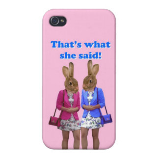 Funny that's what she said text iPhone 4/4S cases