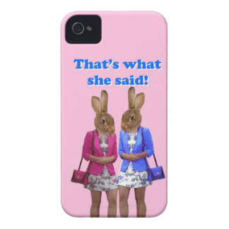 Funny that's what she said text iPhone 4 cover