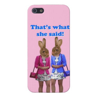 Funny that's what she said text iPhone 5 cases