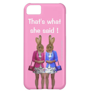 Funny that's what she said text iPhone 5C case