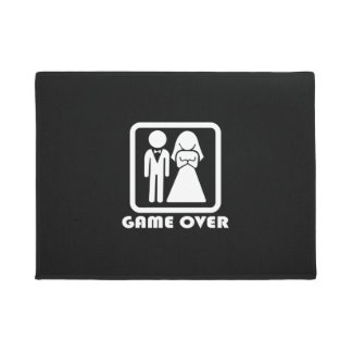 Funny the wedding game over house doormat