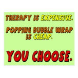 Funny Therapy T-shirts Gifts Post Card