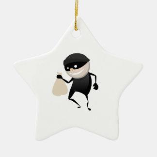 Funny Thief Christmas Ornament