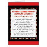 Funny Things I Learned From Australian Cattle Dog Greeting Card