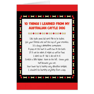 Funny Things I Learned From Australian Cattle Dog Card
