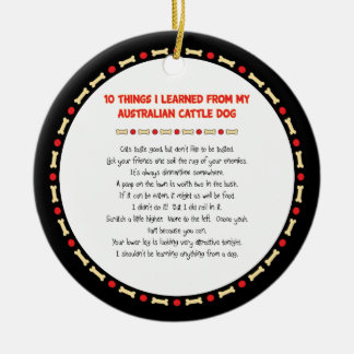 Funny Things I Learned From Australian Cattle Dog Christmas Ornament