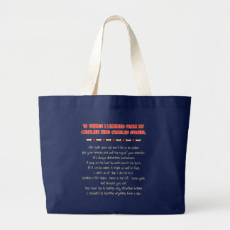 Funny Things I Learned From Cavalier King Charles Canvas Bag
