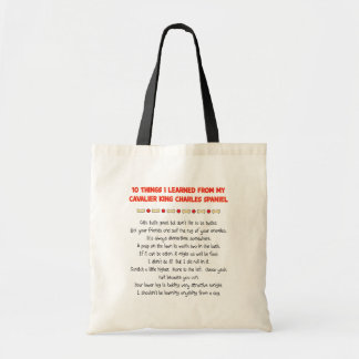 Funny Things I Learned From Cavalier King Charles Budget Tote Bag
