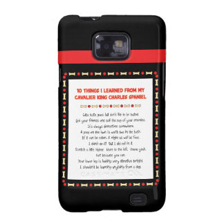 Funny Things I Learned From Cavalier King Charles Samsung Galaxy S Cases