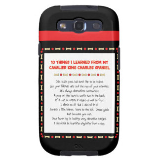 Funny Things I Learned From Cavalier King Charles Samsung Galaxy S3 Cover