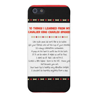 Funny Things I Learned From Cavalier King Charles Cover For iPhone 5