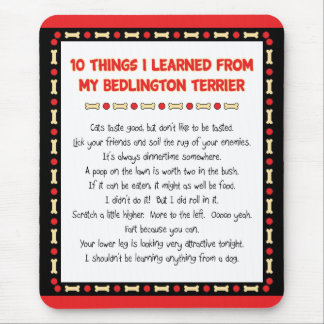 Funny Things I Learned From My Bedlington Terrier Mouse Pad